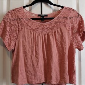 Cropped Top with Lace Detail (4 for $15)